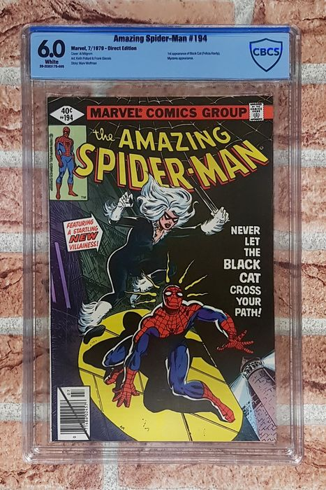 Amazing Spider-man #194 - 1st Appearance of Black Cat - CBCS Graded 6.0