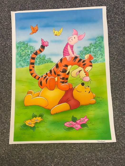 Ray Nicholson - Original large water color drawing - Winnie the Pooh