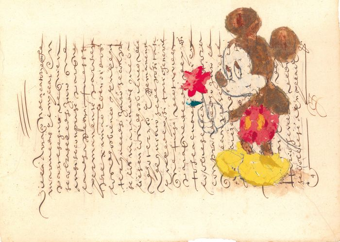Mickey Mouse, The Book & The Rose - Original Limited Edition 5/10 - Alday Hand Signed - Eerste druk