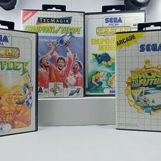 Sega Master System - Video Spiele (4) - In Originalverpackung