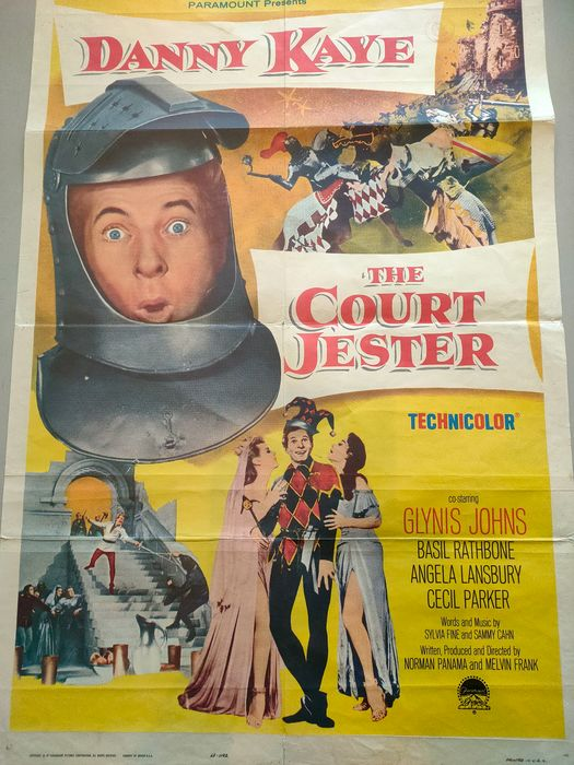 Court Jester, the (1956) - Danny Kaye - Affiche, Original 1956 US Cinema release - 1 Sheet, numbered