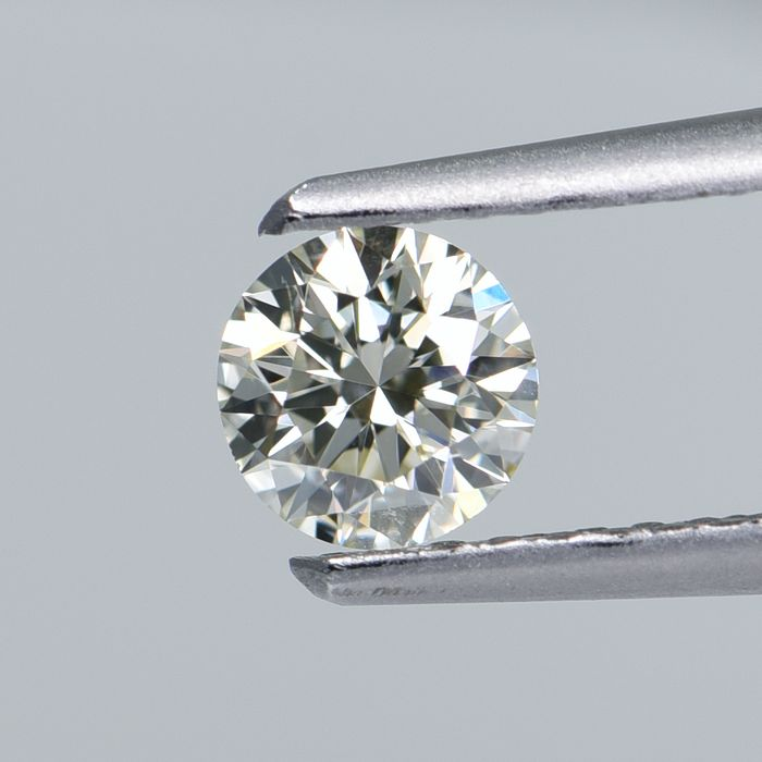 1 pcs Diamant - 0.35 ct - Rond - N - SI2 Excellent cut  GIA Certified * No Reserve Price *
