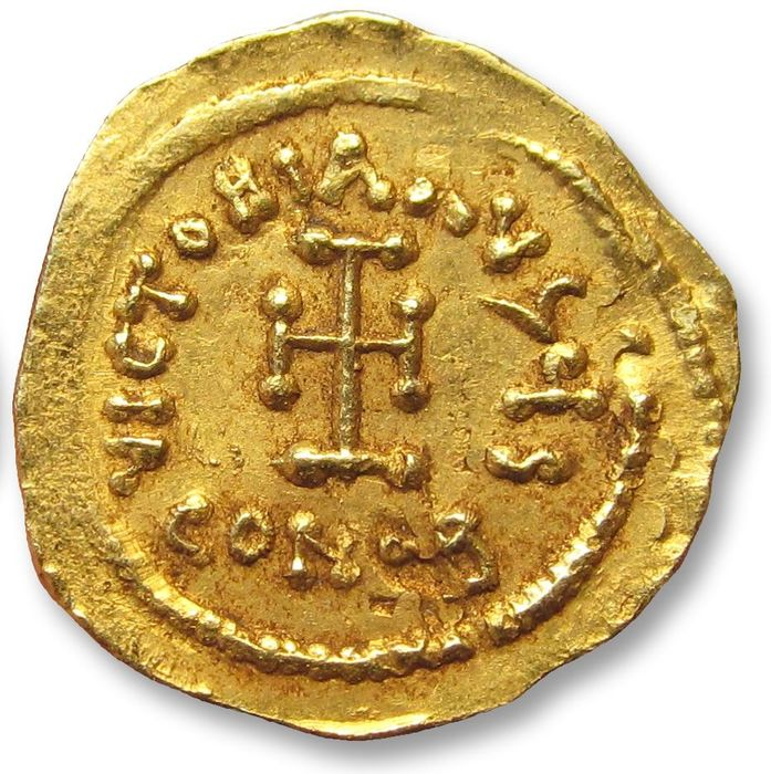 Byzantijnse Rijk. Constans II (641-668 n.Chr.). Goud Tremissis,  Constantinople mint 641-688 A.D.