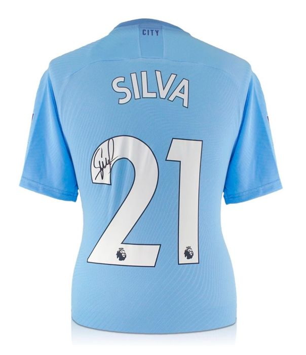 Manchester City - European Football League - David Silva - 2019 - Jersey