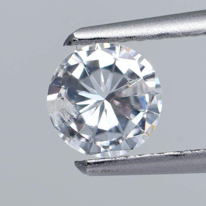 1 pcs Diamant - 0.39 ct - Rond - G - I2  GIA Certified * No Reserve Price *