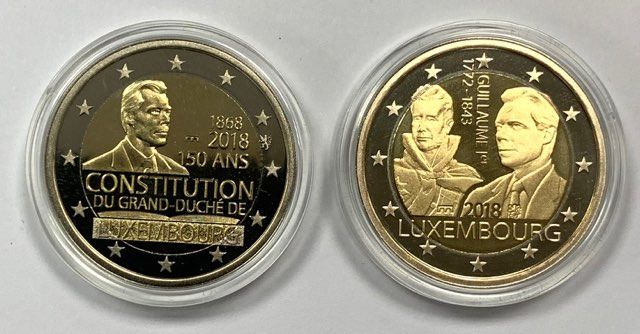 Luxemburg. 2 Euro 2018 Pont + Lion (Tirage 3 500)