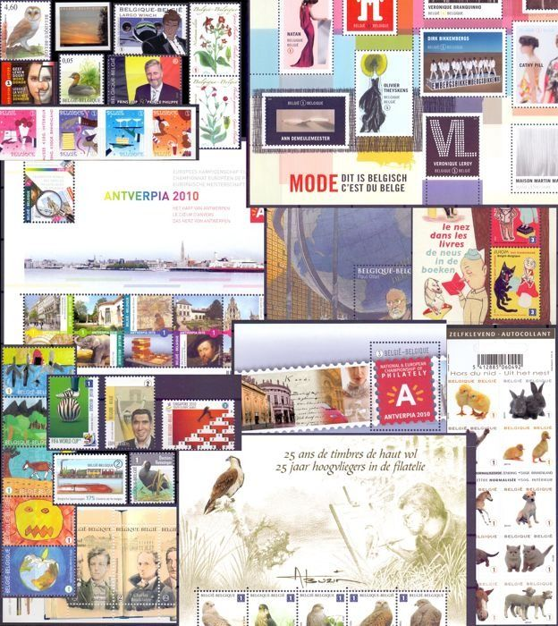 Belgium - Stamp collection 2010, 2011 and 2012 ideal for a DAVO album