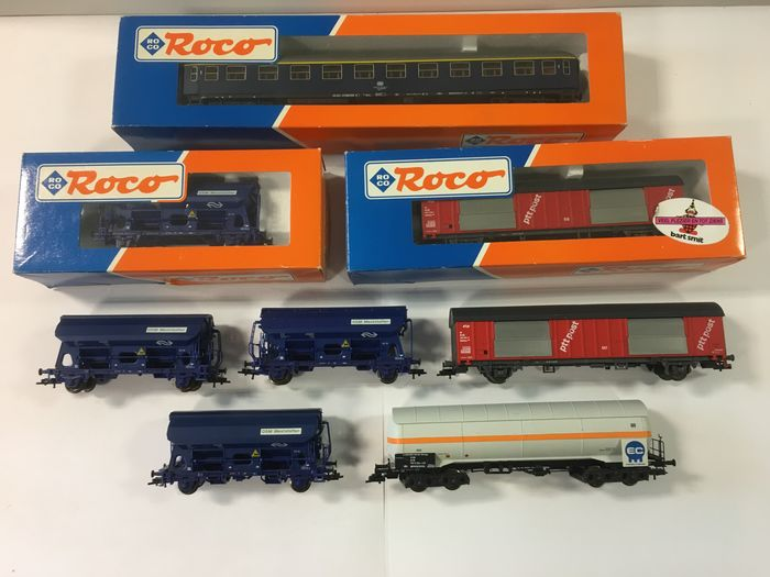 Roco H0 - Freight carriage, Passenger carriage - 8 various - DB, NS