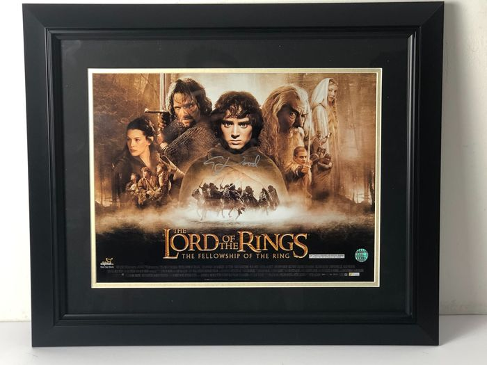 Lord of the Rings - Elijah Wood (Frodo) - Affiche, Autographe Signed, framed with Coa