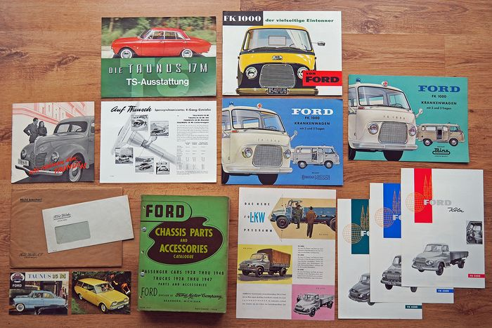 15x Original FORD brochures, info material, etc. - Ford, Ford USA - 1950-1960