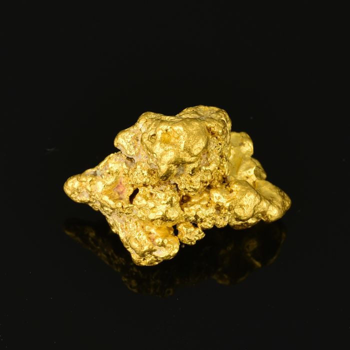 Natural Gold Nugget - 18.6×14.5×8.8 mm - 8.026 g