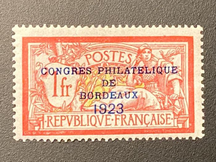 Frankrijk - 1923 - Bordeaux Congress No. 182 signed Moureau - Yvert