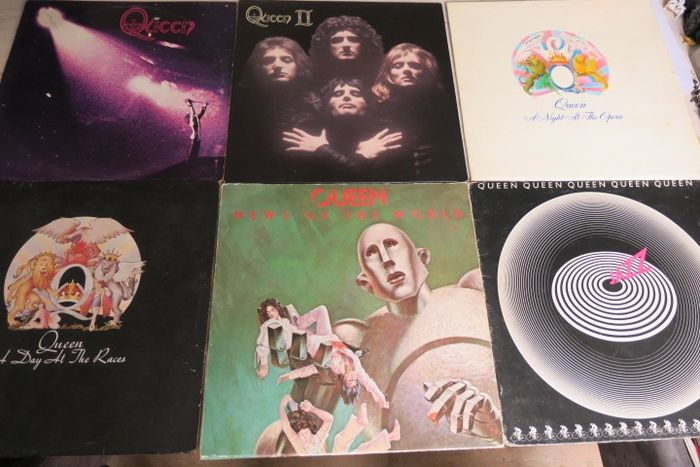 Queen - Nice Lot with the early 6 albums of Queen - Multiple titles - LP's - 1973/1978