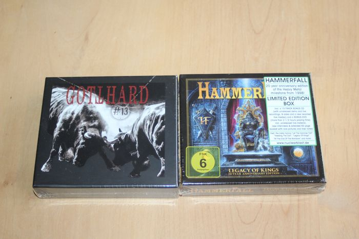 HammerFall & Gotthard - Legacy of the Kings + #13 - Multiple titles - CD, DVD, Limited box set - 2018/2020