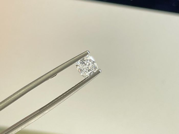 1 pcs Diamante - 0.58 ct - Cojín - D (incoloro) - VVS1