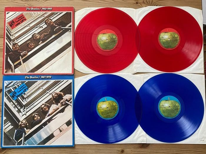 Beatles - Beatles 1962-1966, 1967-1970 coloured vinyl red & blue - Multiple titles - 2xLP Album (dubbel album) - 1973/1973