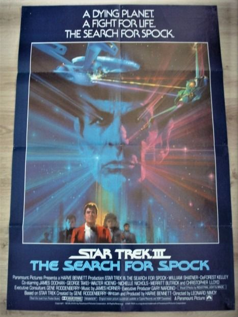 Star Trek III The Search For Spock - Affiche, Original 1984 US Cinema release - 1 Sheet