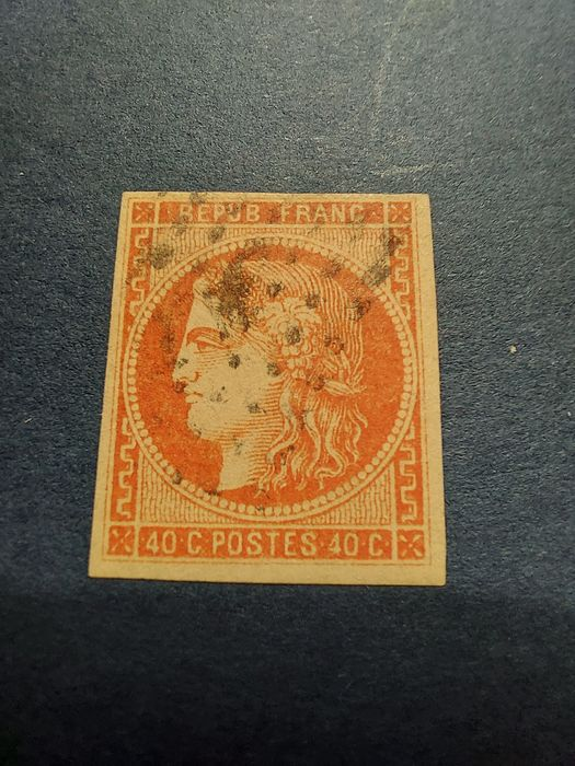 Frankrijk 1870/1870 - Bordeaux issue No. 48, centimes red-orange.