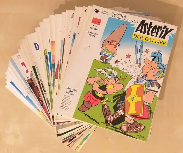 Asterix - 32 Asterix Bänden - Range: Band 1 bis 37 - Broché - Éditions mixtes (voir description) - (1968/2017)