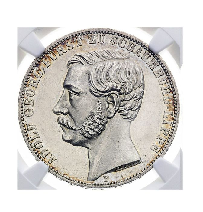 Germany, Schaumburg-Lippe. Adolf Georg 1860 - 1893. Thaler 1865 B