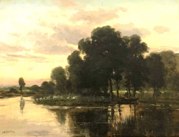 Jan Herman Coster (1846-1920) - Waterlandschap