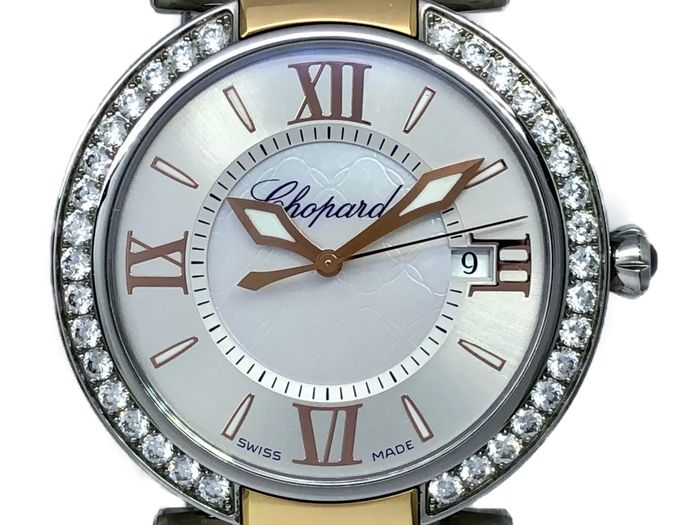 Chopard - İmperiale Rose Gold and Diamond Bezel Mother Of Pearl Dial - 388532-6004 - Dames - 2011-heden