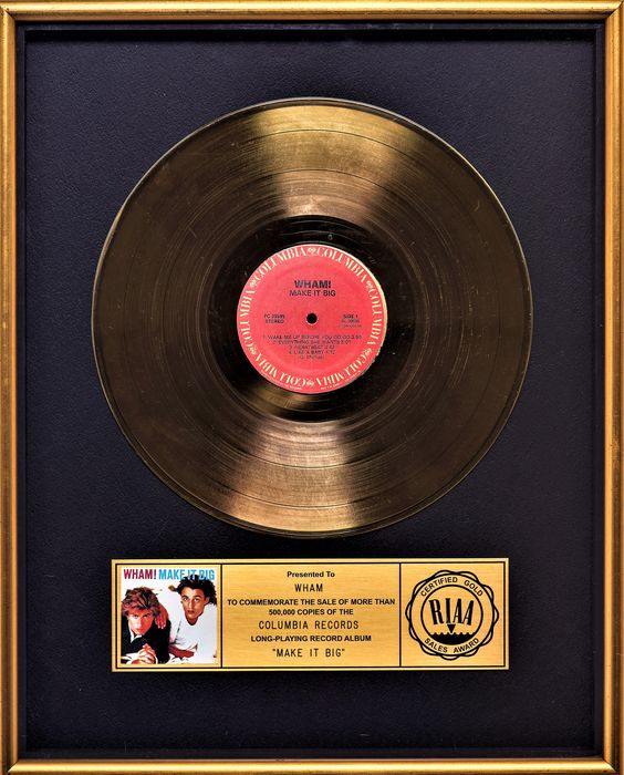 Wham! - Make it Big - Officiële RIAA award - 1984/1984