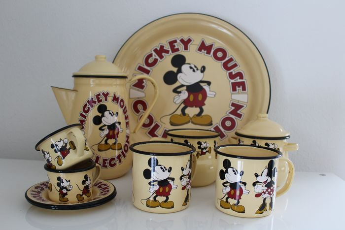 Disney - Demons & Merveilles - 10-delig Mickey Mouse koffie / theeservies - (1990)