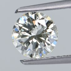 1 pcs Diamant - 0.84 ct - Rond - O-P - SI2 VG  GIA Certified * No Reserve Price *