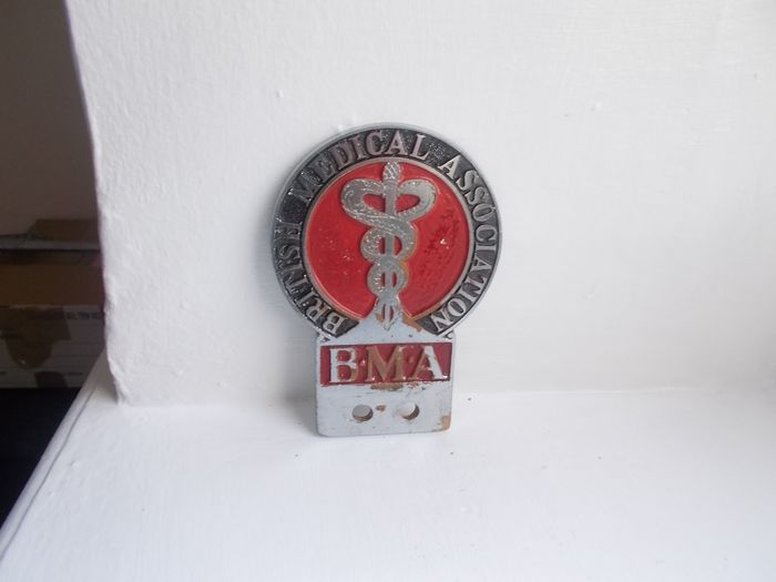 Emblema/mascota/placa - Jersey British Medical Association chrome on brass and enamel car badge 1930 to 1950