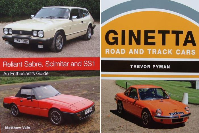 Libros - Reliant Sabre, Scimitar and SS1 + Ginetta, Road and Track Cars - Reliant, Ginetta