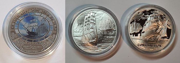 Niue, Wit-Rusland. 20 Rouble 2008 and 2010 + Dollar 2013 Commemorative (3 coins)