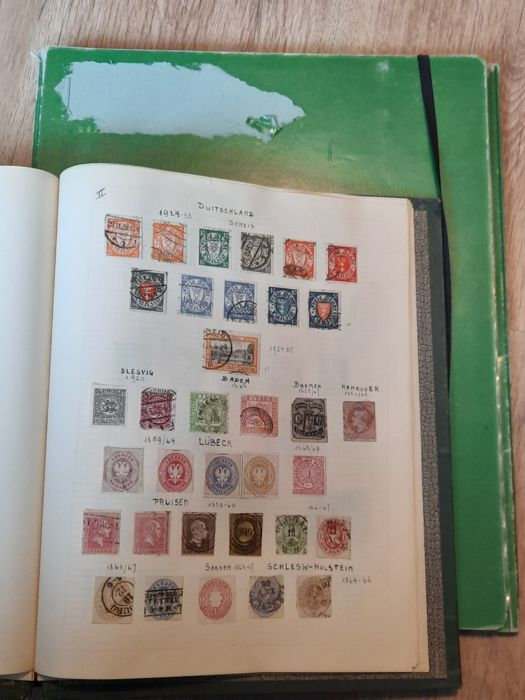 Empire allemand - Empire collection + Weimar and German Reich + folder with Hitler sheet parts and a batch of official