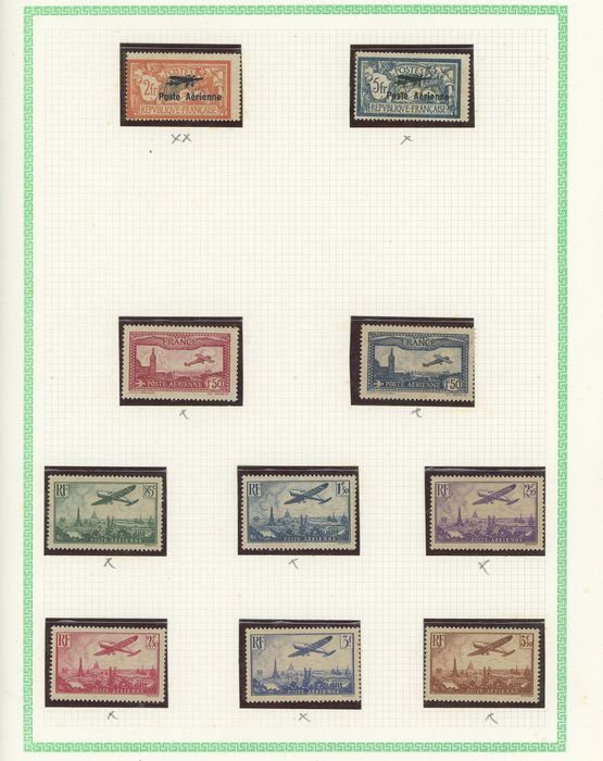 France 1927/2000 - A lovely, extensive collection of airmail stamps with No. 1/2, 14 and No. 15 - Value: over 5000. - Yvert Du n°1 à 64