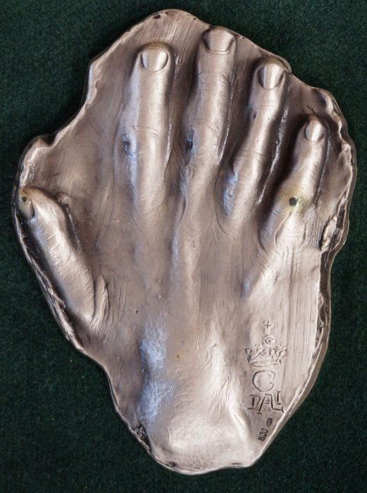 Salvador Dali (1904-1989) - Silver cast of the hand of Salvador Dalí