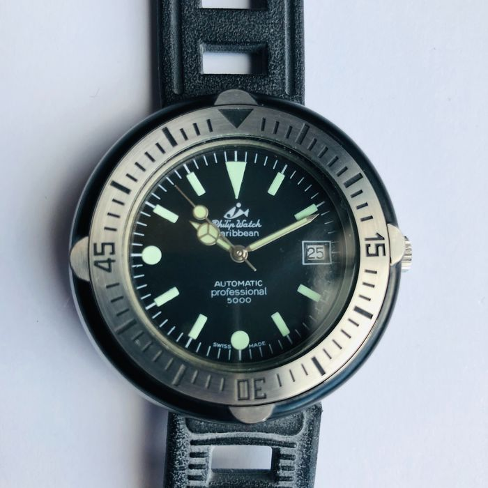 Philip Watch - Caribean automatic professional 5000 - 4802 - Homme - 1970-1979