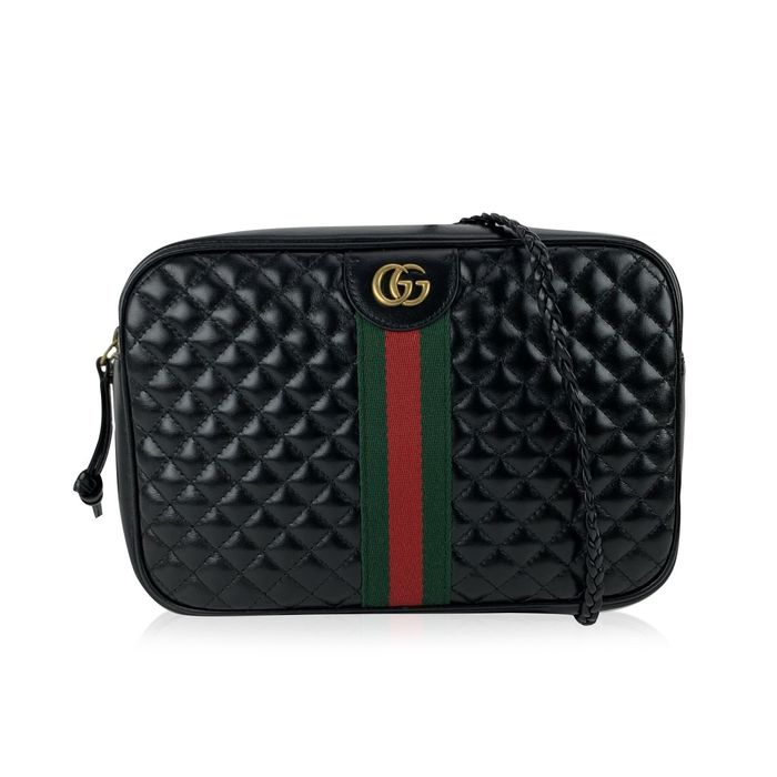 Gucci - Black Quilted Leather GG Small Messenger - Schultertasche