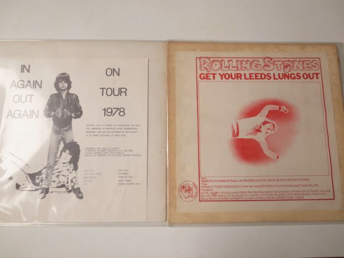 Rolling Stones - Get your Leeds lungs out (1971)- //  In again out again on tour 1978 - Live LPs - Multiple titles - LP's - 1975/1978