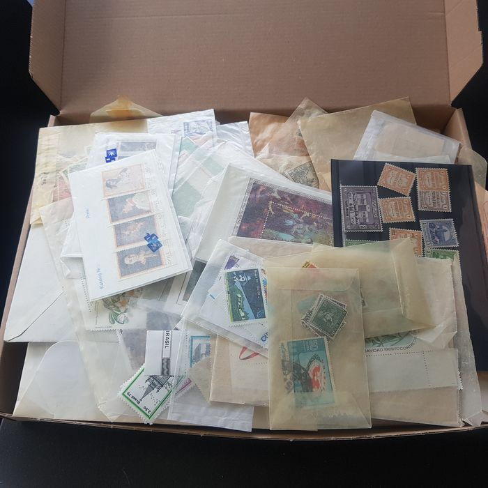 Monde 1870/1990 - Adventurous large batch with various countries in a box