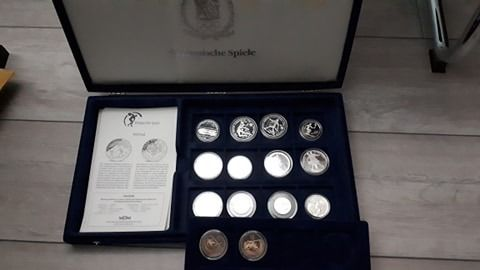 Welt. Collection various coins 1996/1998 'Olympics Nagano 1998' (14 pieces)