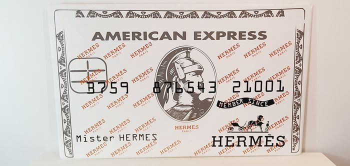 Tox Art - Mister HERMES american express card
