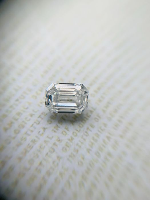 1 pcs Diamante - 1.10 ct - Esmeralda - D (incoloro) - IF (Inmaculado), *2Ex*