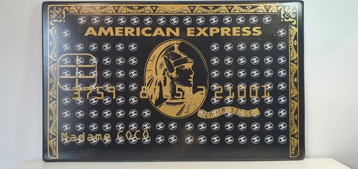 Tox Art - Madame COCO american express card