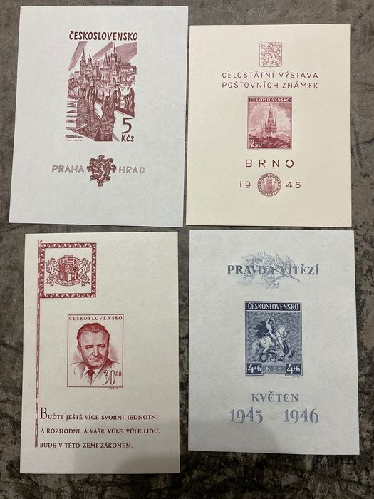 Checoslovaquia 1918/1985 - Lot of blocks and stamps - Michel