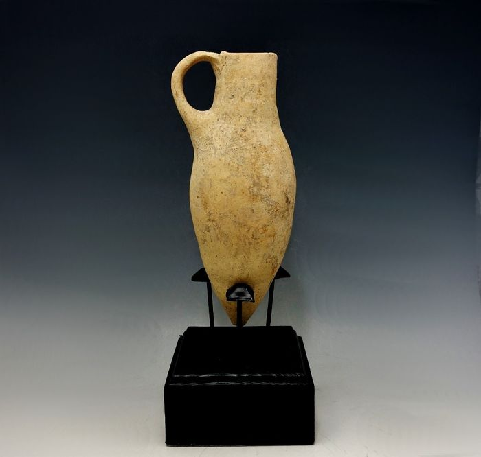 RARE Late Cypriot Bronze Age Terracotta White Shaved Ware - 180mm height