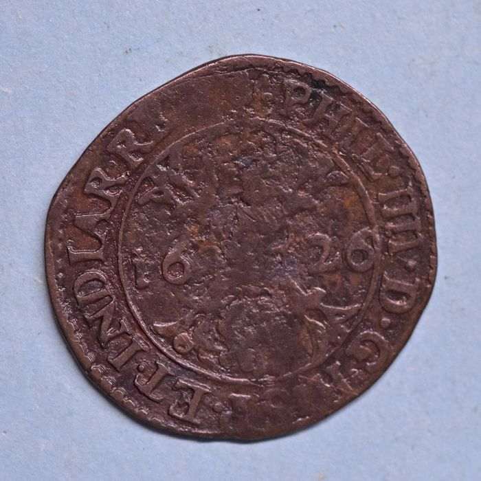 Spanish Netherlands. Filippo IV di Spagna (1621-1665). Duit 1626  Speciale uitgifte  BREDA