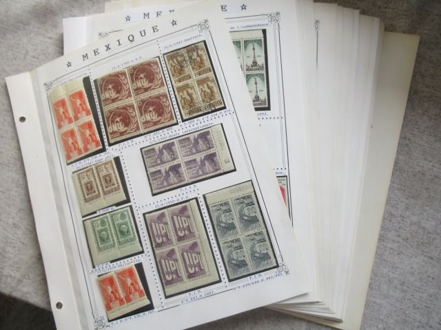 Mexico 1939/1975 - Advanced collection of stamps including blocks of 4.