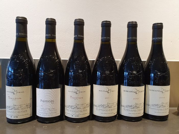Gemengd kavel -  Mixed lot of Châteauneuf du Pape from Domaine Giraud - Rhône - 6 Fles (0.75L)