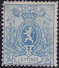 Belgien - 24A with perforation 15 - OBP / COB 24A