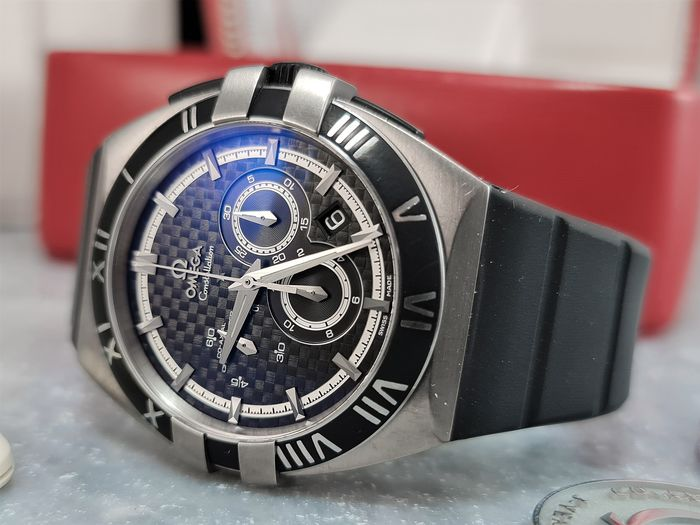 Omega - Constellation Double Eagle Co-Axial Chronograph - Titanium 41MM - Mission Hills - 12192415001001 - Homme - 2000-2010